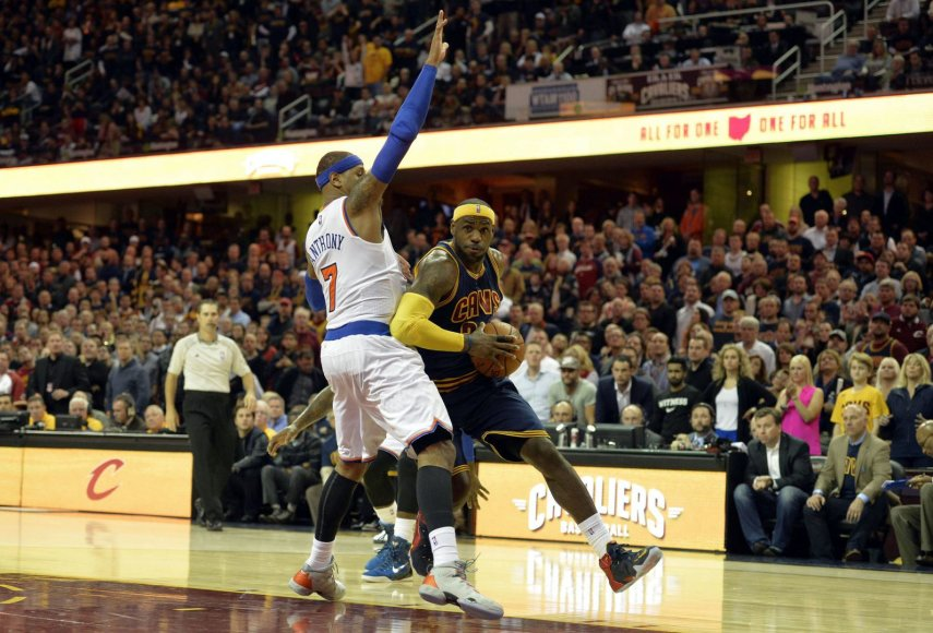 LeBronas Jamesas ir Carmelo Anthony