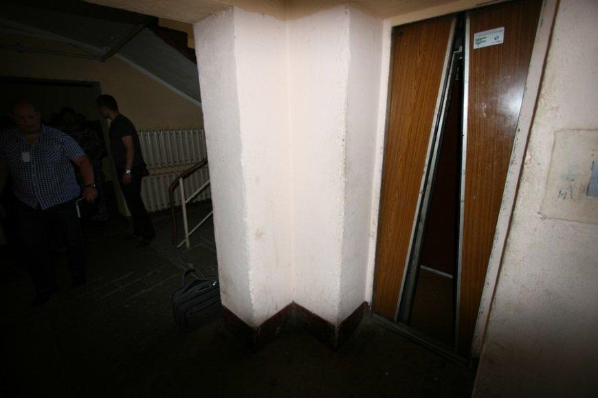 Šiauliuose nukrito liftas