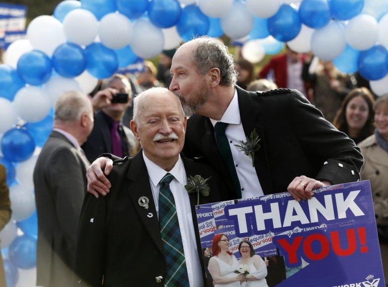 Homoseksualų pora Škotijoje