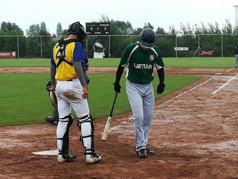 Beisbolo rungtynės Lietuva-Ukraina