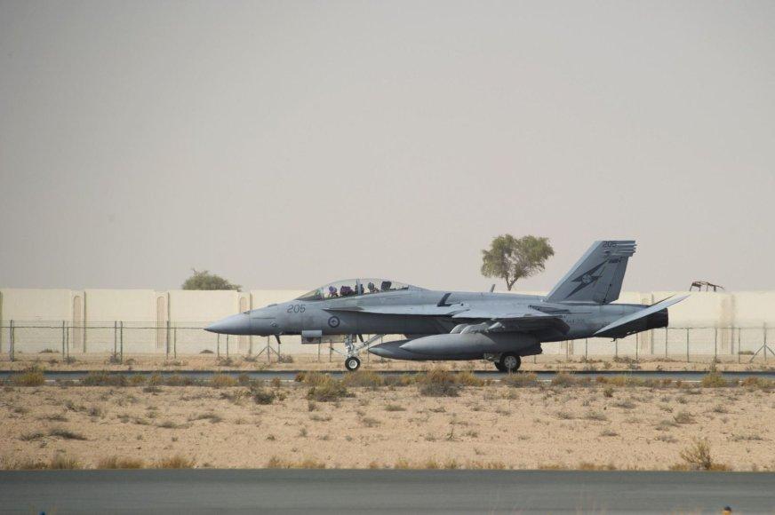 """Australijos karinių oro pajėgų naikintuvas """"F/A-18F Super Hornet"""""""