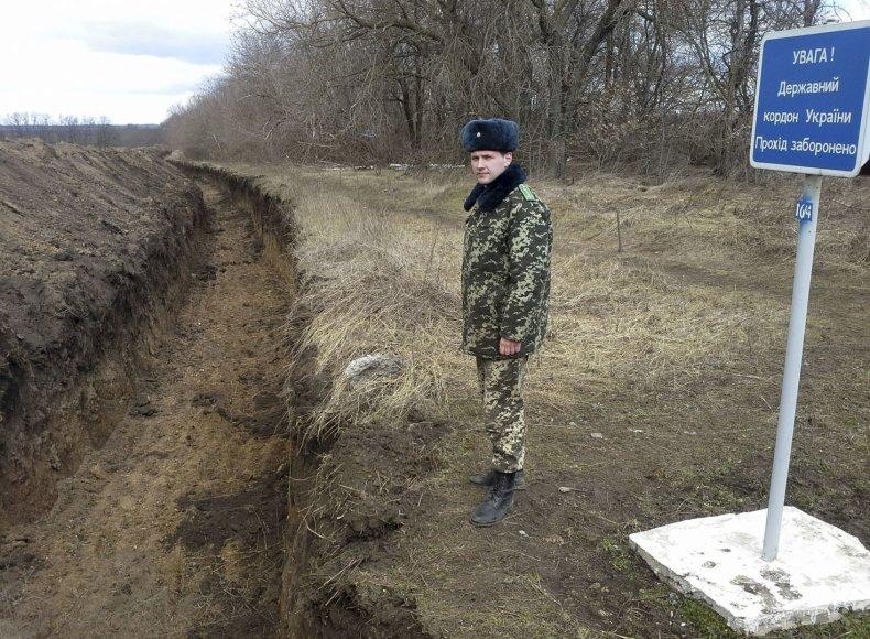Kasamas griovys Ukrainos pasienyje