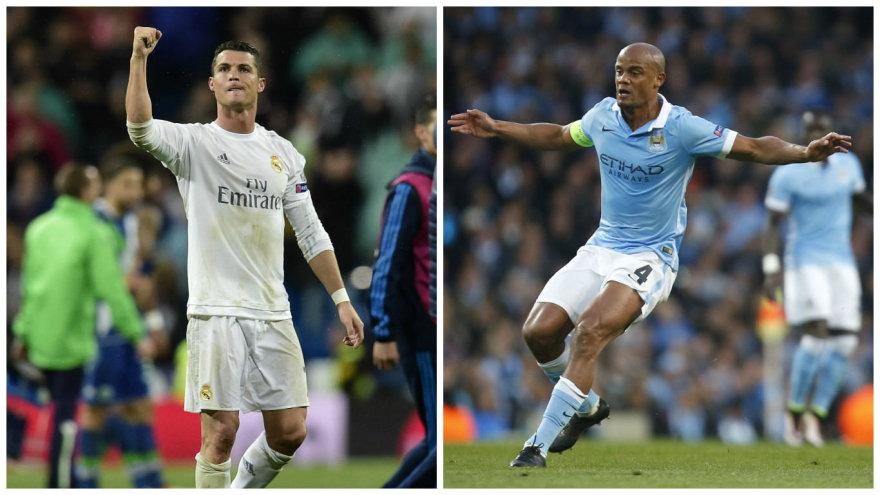 Cristiano Ronaldo ir Vincentas Kompany