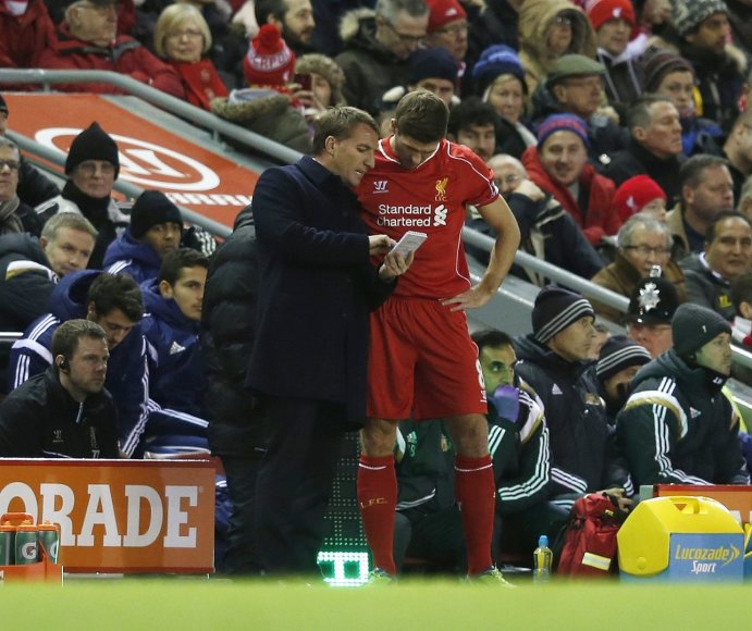 Brendanas Rodgersas ir Stevenas Gerrardas