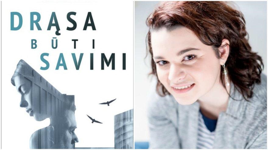 Kamila Golod ir jos knygos viršelis.