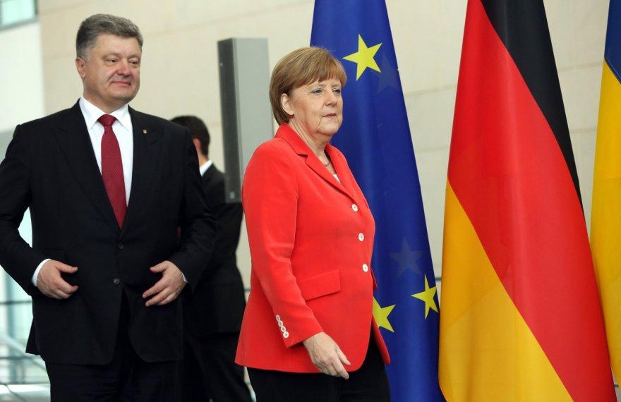 P.Porošenka ir A.Merkel.