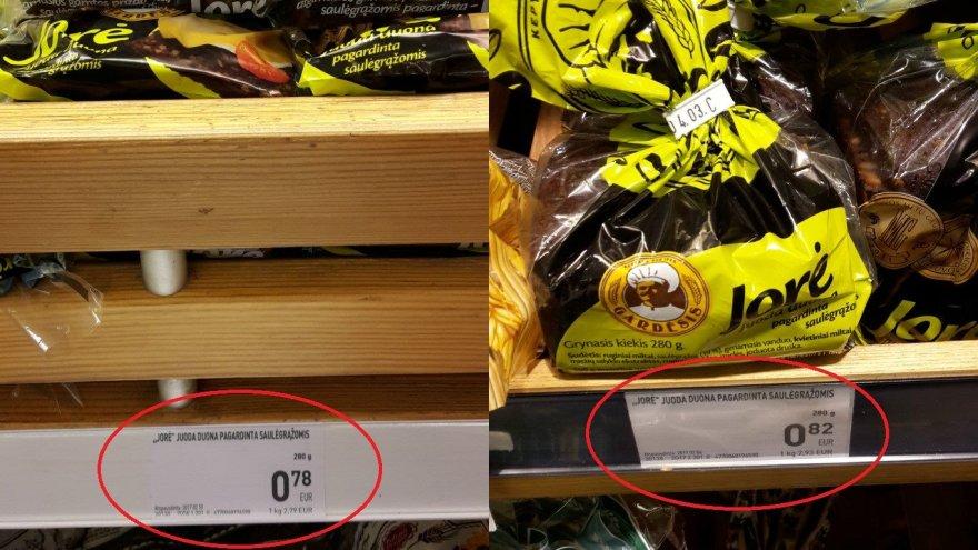 Duonos kainos Kauno IKI