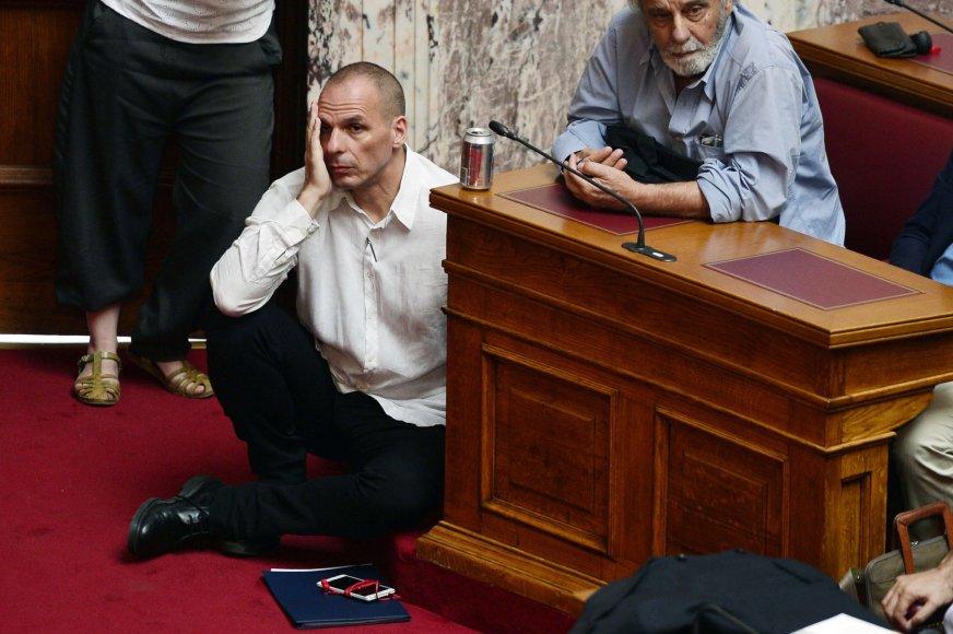 Graikijos finansų ministras Janis Varufakis