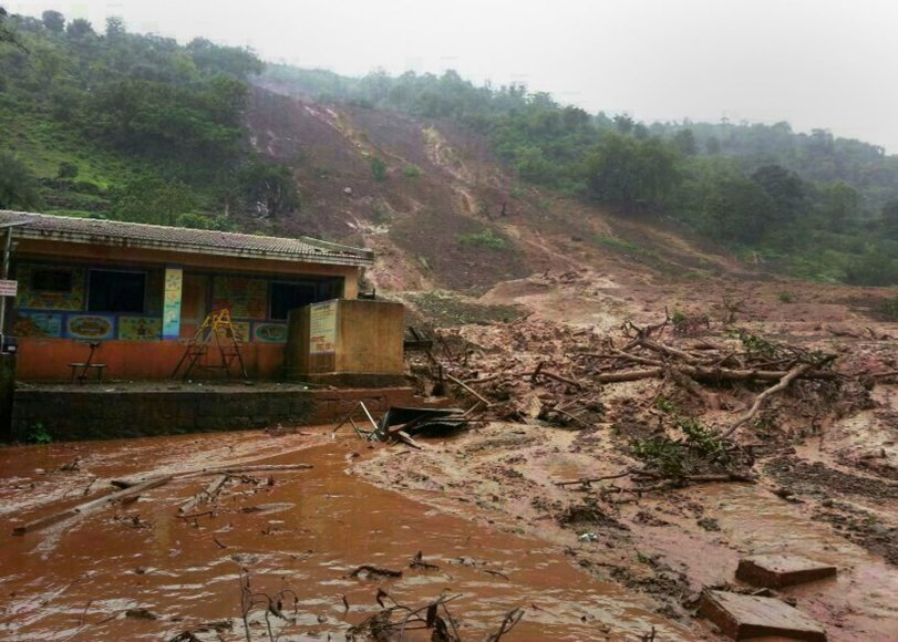 Žemės nuošliauža Indijos Maharašatros valstijoje