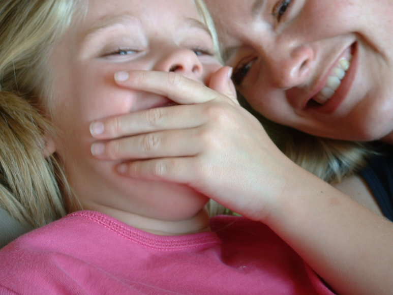 Vaikų juokas nuoširdus