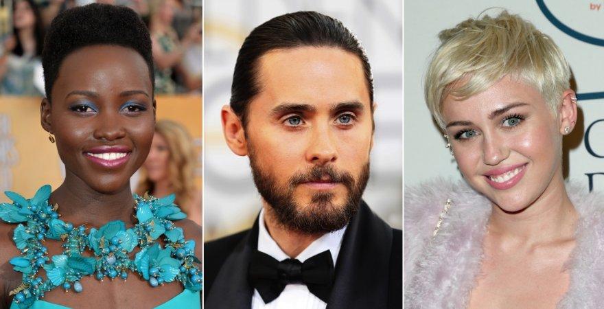 Lupita Nyong'o, Jaredas Leto ir Miley Cyrus