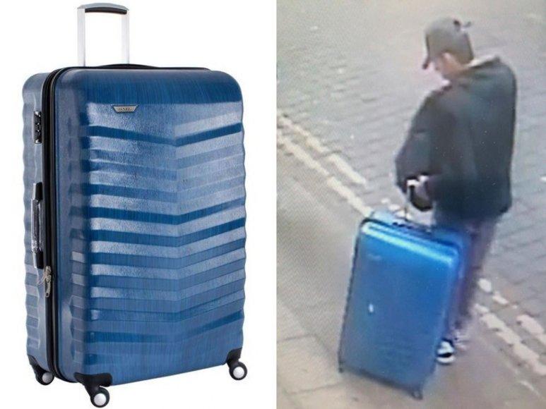Ieškodama mėlyno lagamino, policija išplatino naują S.Abedi nuotrauką.