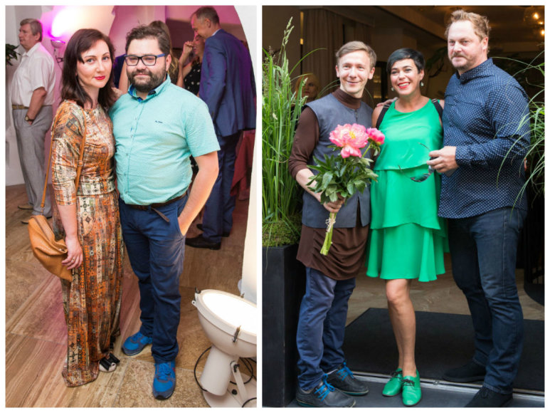 Rafailas Karpis su žmona Diana, Deivydas Praspaliauskas, Nomeda Marčėnaitė ir Vytas Palavinskas