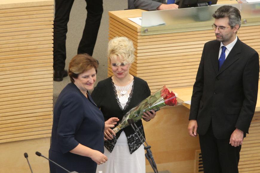 Loreta Graužinienė ir Ukrainos Demokratijos plėtros centro vadovė Olena Rudomiotkina
