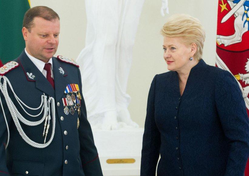 Saulius Skvernelis ir Dalia Grybauskaitė