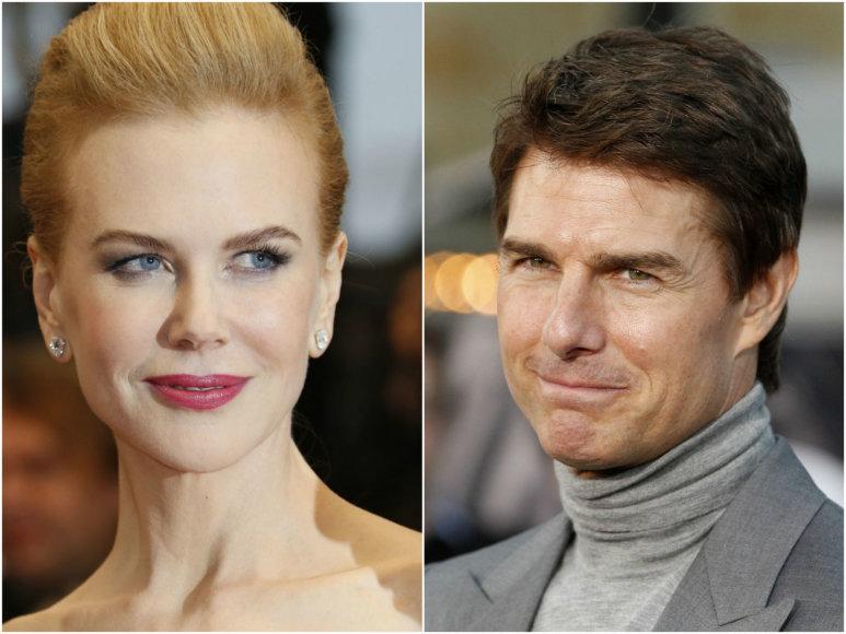 Kino žvaigždės Nicole Kidman ir Tomas Cruise'as