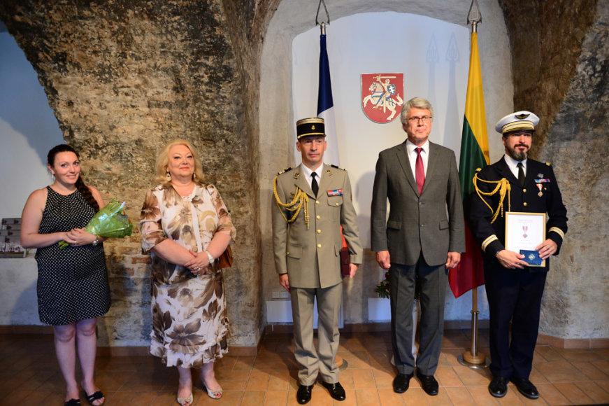 Prancūzijos gynybos atašė pasikeitimo ceremonija