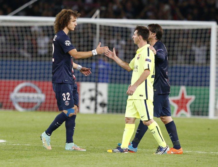 Davidas Luizas ir Lionelis Messi