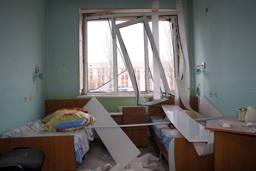 Ligoninė Ukrainoje po atakos. Asociatyvinė nuotr.