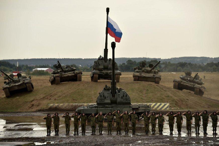 Rusijos kariuomenės tankai