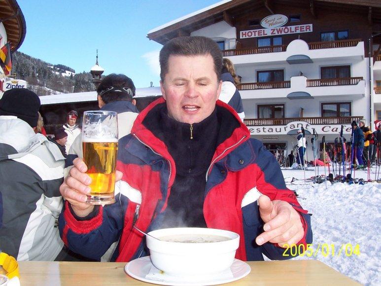 Slidininko Rimo istorija: slidinėjimas Čekijoje, Austrijoje, Italijoje