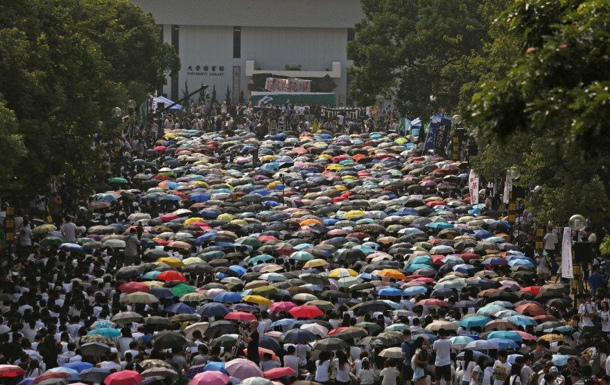 Studentų protestas Honkonge