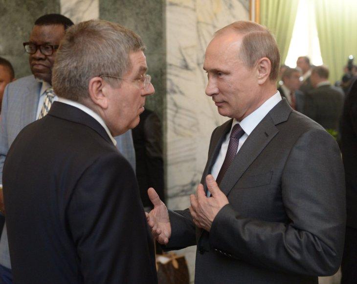Thomasas Bachas ir Vladimiras Putinas