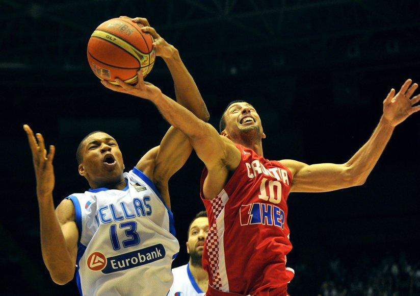 Graikijos krepšinio rinktinė įveikė Kroatiją