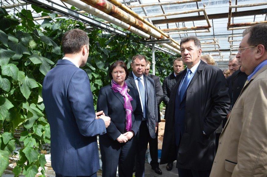 Ministras Pirmininkas Algirdas Butkevičius ir žemės ūkio ministrė Virginija Baltraitienė apsilankė naujojoje Elektrėnų komplekso biokuro katilinėje.