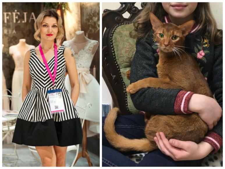 Viktorija Jakučinskaitė ir jos katinas Hemingvėjus