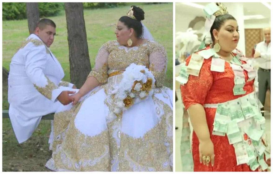 Ekstravagantiškos Slovakijos čigonų vestuvės