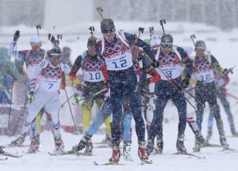 Biatlono masinio starto varžybos