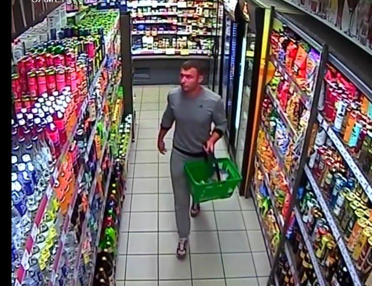 Kauno policijos ieškomas asmuo, susijęs su alkoholinių gėrimų vagyste