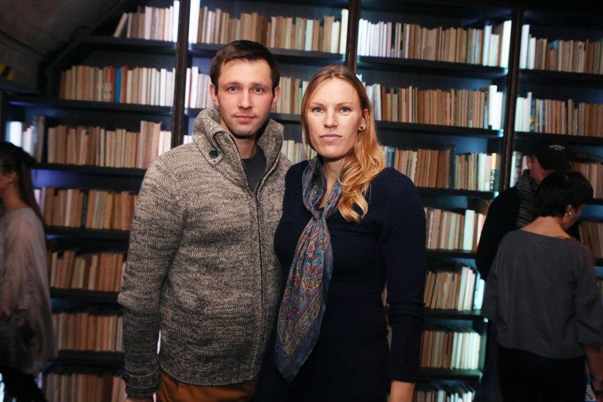 Austra Skujytė su vyru Valdu Grigaliūnu