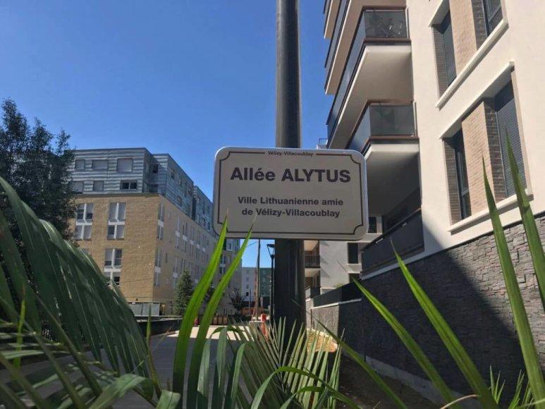 Paryžiaus priemiestyje – Alytaus vardu pavadinta gatvė