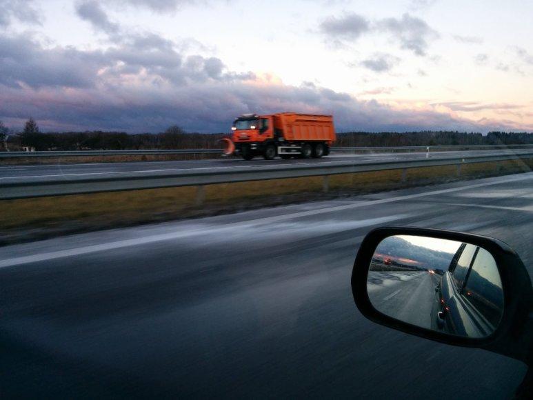 Kelio danga kelyje Vilnius-Panevėžys
