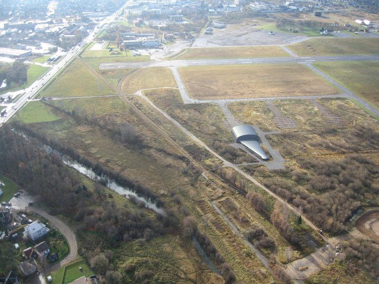 Stepono Dariaus ir Stasio Girėno aerodrome statomas gelbėjimo postas