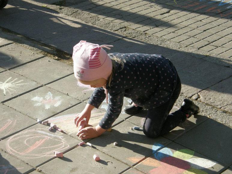 Kaune vaikai piešė džiazą