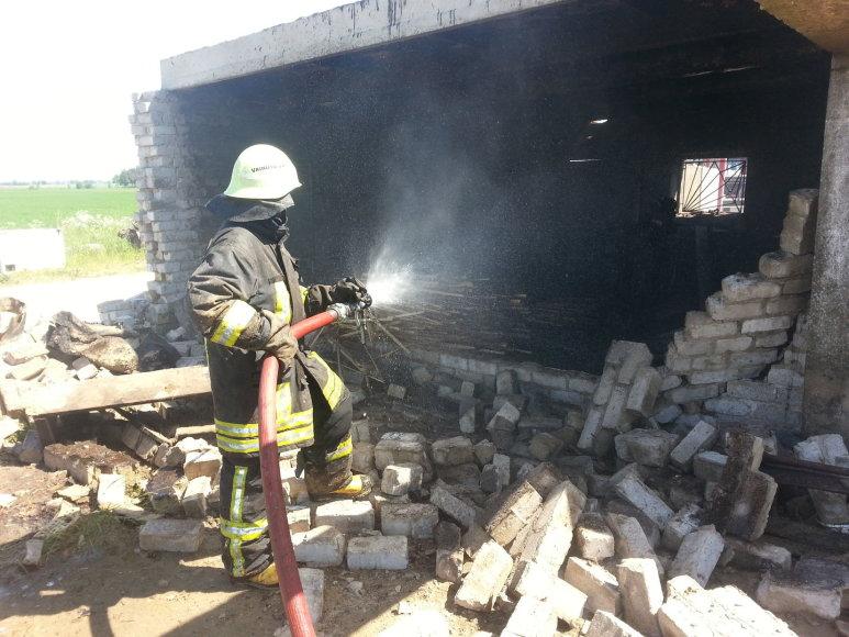 Sprogimas pjuvenų briketų gamykloje Šilutės rajone