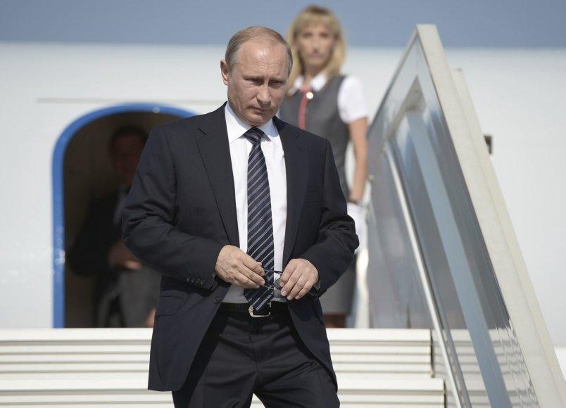 Rusijos prezidentas Vladimiras Putinas Kryme