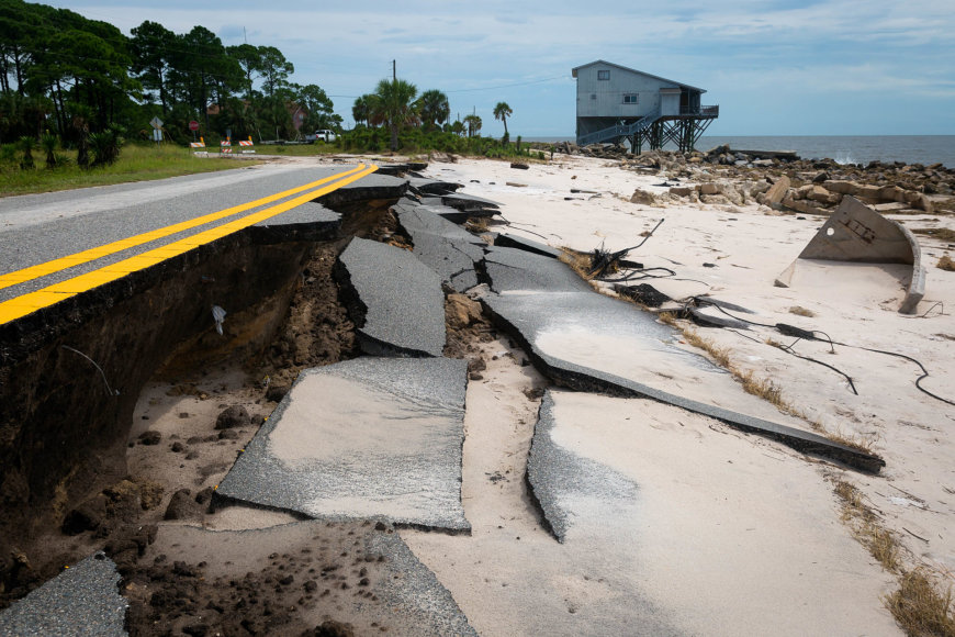 Uragano Hermina nusiaubta Floridos pakrantė