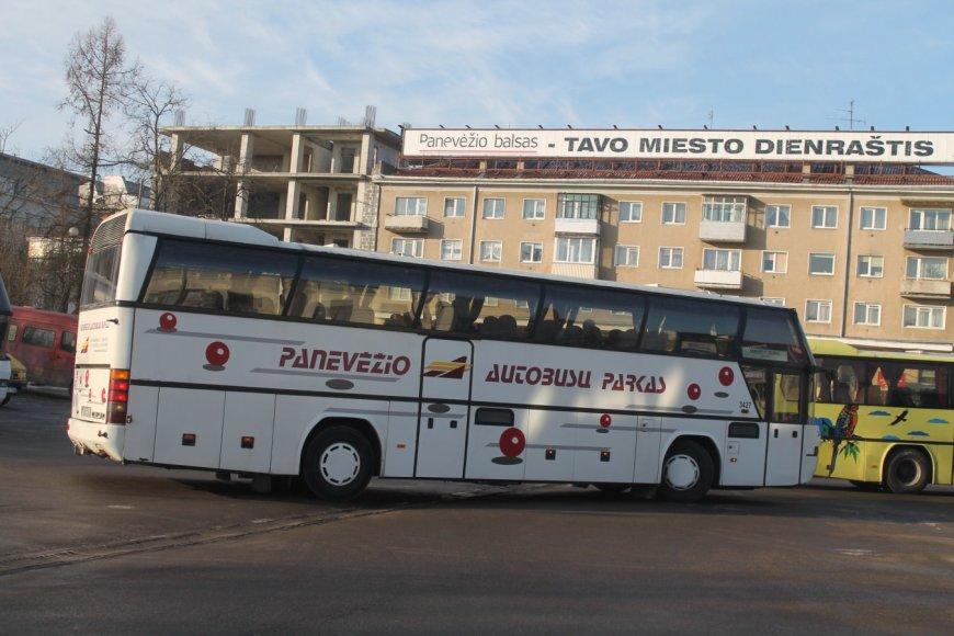 Panevėžio autobusų stotyje