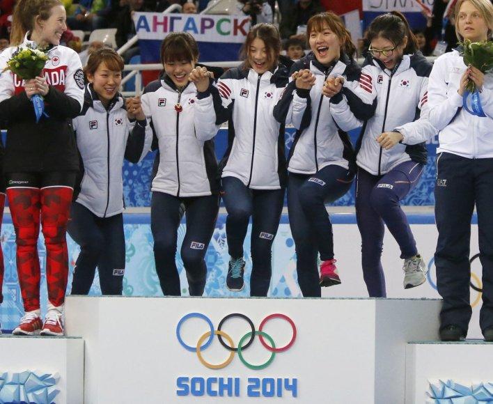 Pietų Korėjos merginos – olimpinės čempionės