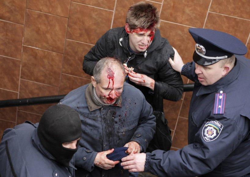 Kruvini susirėmimai Charkove