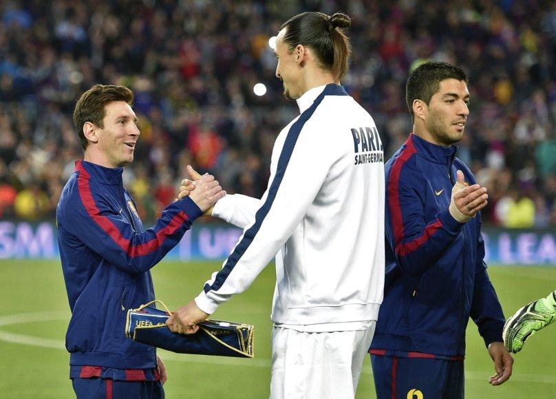 Lionelis Messi ir Zlatanas Ibrahimovičius