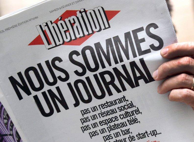 """Prancūzijos nacionalinis dienraštis """"Liberation"""""""