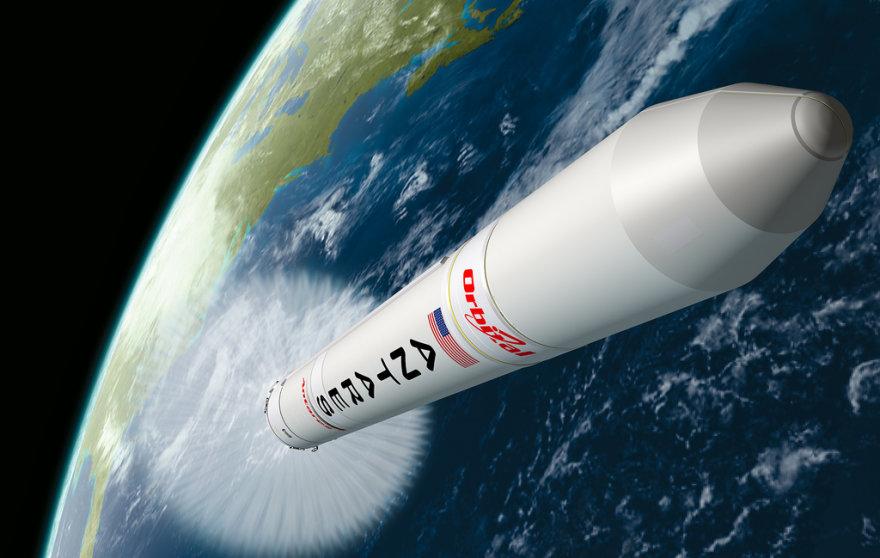 """Kompanijos """"Orbital"""" raketos """"Antares"""" startas"""