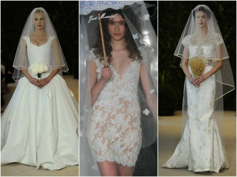 Vestuvinių suknelių modeliai.