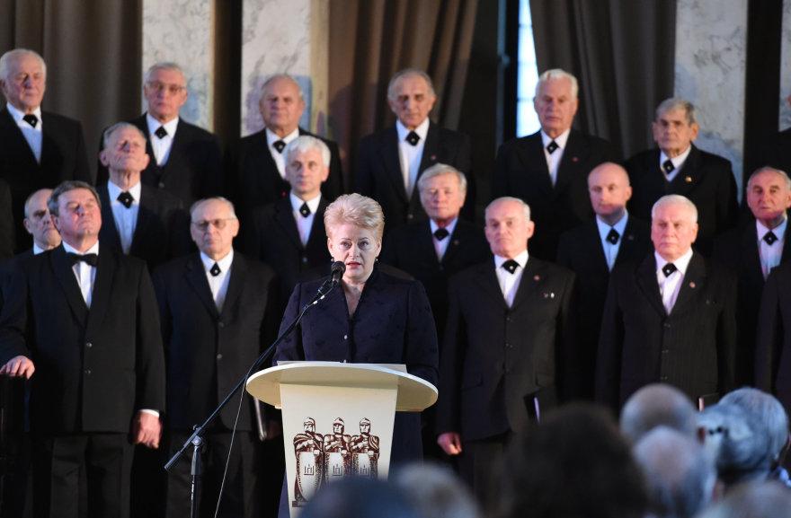 Dalia Grybauskaitė Kauno įgulos karininkų ramovėje