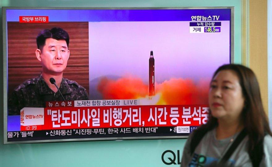 Šiaurės Korėja atliko dar vieną balistinės raketos bandymą
